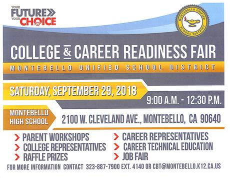 Flyer for College and Career Readiness Fair English